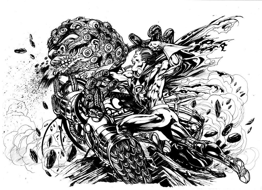 Filler Art: Versus The Multi-Eyed Monster, by Ignacio Calero.